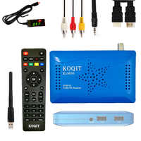 KOQITsintonizador de TV Digital DVB S2 Receptor de satélite DVB-S2 decodificador protocolo Vu Biss Wifi Youtube Set Top caja
