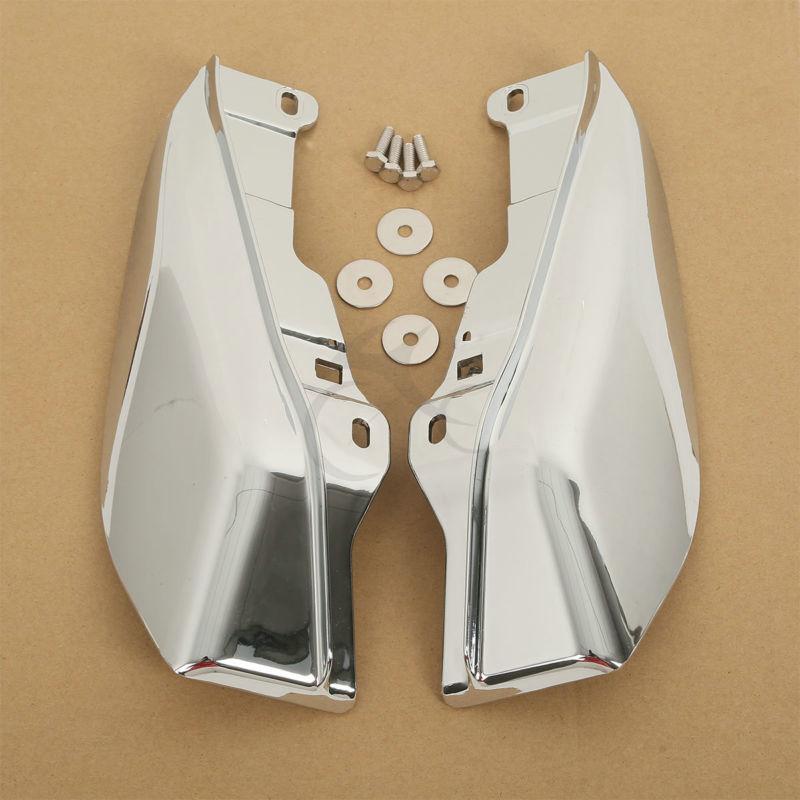 Хром Середины Рамы Дефлекторы Для Harley Гастроли Царь Электра Скольжения Дорога 2009+