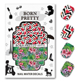 2 Patterns/Sheet BORN PRETTY Flower Watermelon Nail Art Water Decals Manicure Nail Art Transfer Sticker BPY35