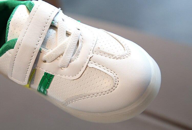sapatos de bebê casuais led sprots sapatos