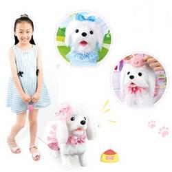 Robot Hond Elektronische Hond Speelgoed Pluche Puppy Pet Lopen Bark Prinses Leash Teddy Gecontroleerd Door Lijn Speelgoed Voor Kinderen Meisjes geschenken