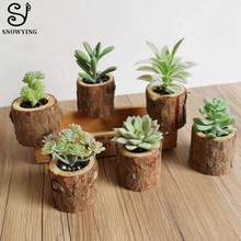 Artificial Succulents Plants Woody Potted Plant Home Desk Table Decoration Accessories Fake Plantas Artificial Cactus Bonsai