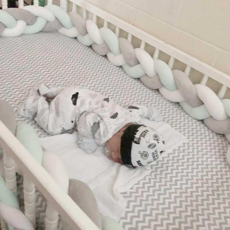 Newborn Baby Bed Bumper Knot / Protector Tour De Lit Bebe Tresse Baby  Bumper Braid Crib Cot Bumper Bumpers In The Crib 3 6 9 12M