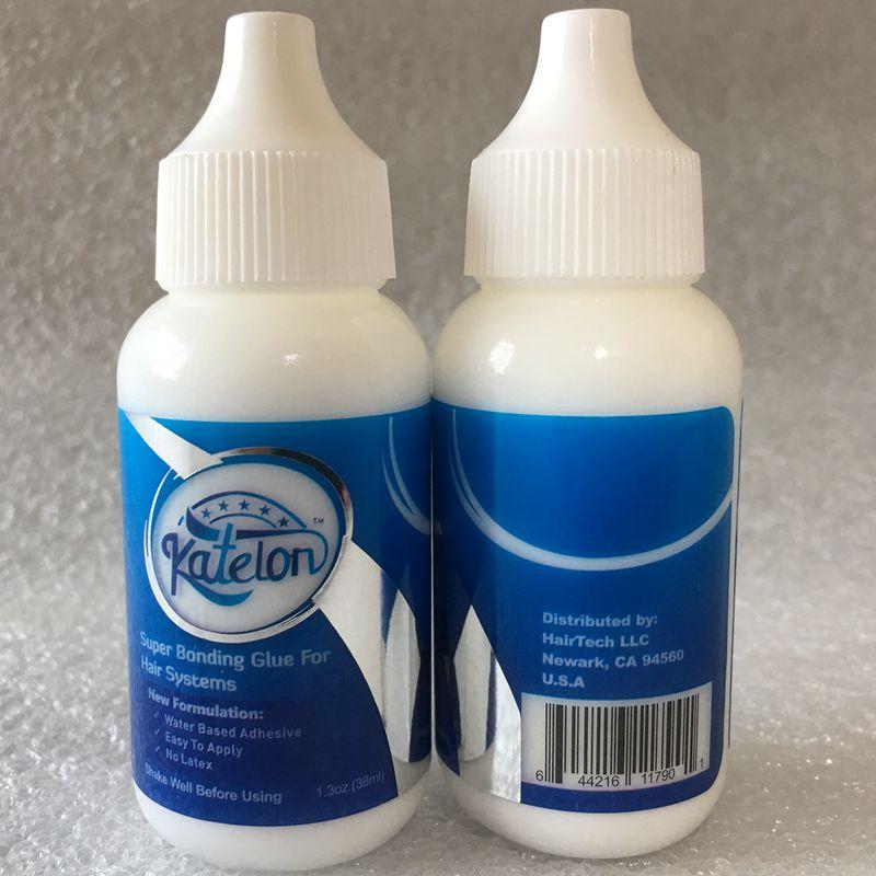 1 bouteille 1.3 Oz 38 ml perruque super colle adhésive blanc perruque colle de liaison avec 1 bouteille 1 Oz dissolvant pour perruque colle toupet bande
