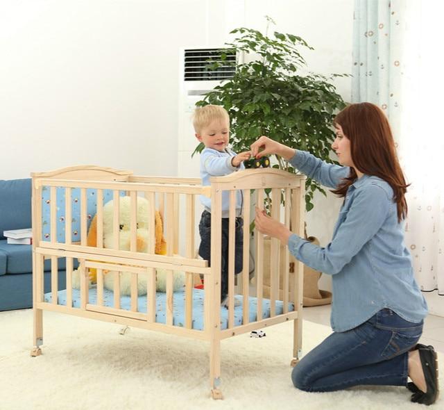 Детская кровать из сосны высокого качества многофункциональный младенческой колыбели переменная стол игра кровать