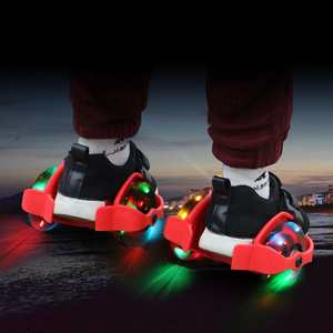 Children Heel Wheel Roller Skate Shoes Hot Wheels Sports Colorful LED Flashing Small Whirlwind Pulley For Kids 4 LED Light IA85(China)
