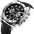 2019 mode MEGIR Marke Männer Sport Quarz Uhr Herren Uhren Top Brand Luxus Wasserdichte Uhr Stunde Relogio Masculino Uhren-in Quarz-Uhren aus Uhren bei