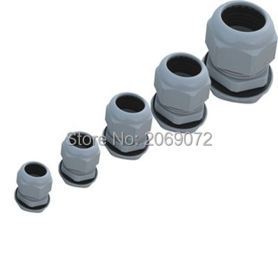 20pcs PG13.5 Waterproof Connector Gland Dia. 6-12mm Cable