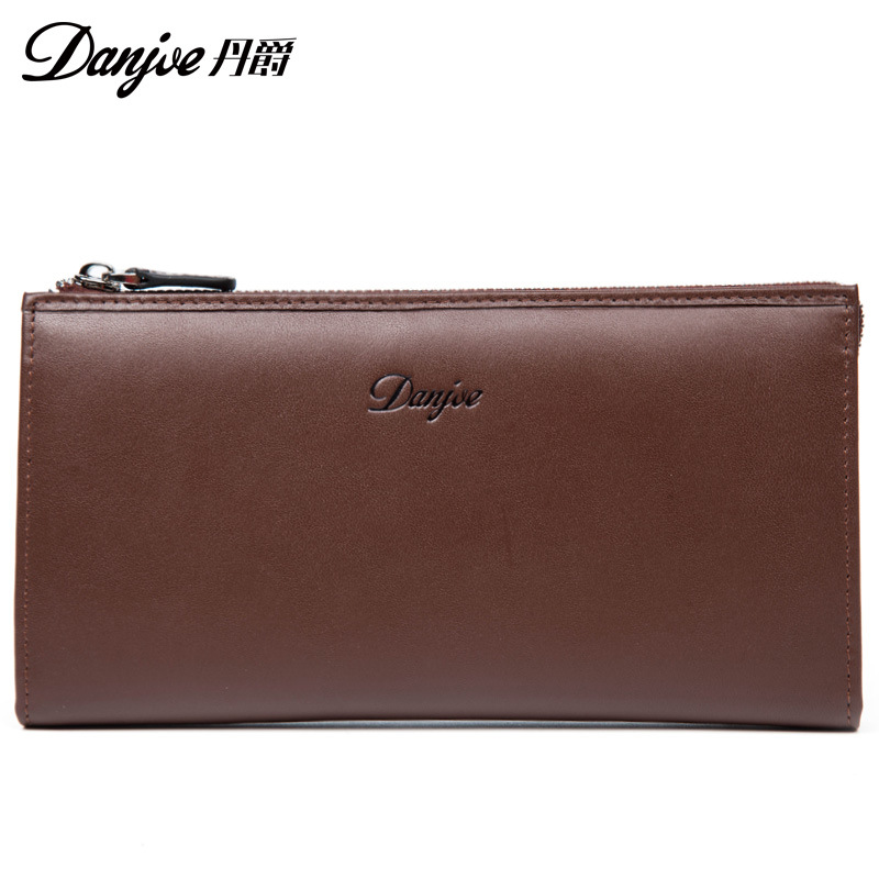 DANJUE Man Soft Leather Clutch Money Bag Men's Wallets Genuine Leather Long Purse Business Male Card Holder Leisure Phone Wallet men s purse long genuine leather clutch wallet travel passport holder id card bag fashion male phone business handbag