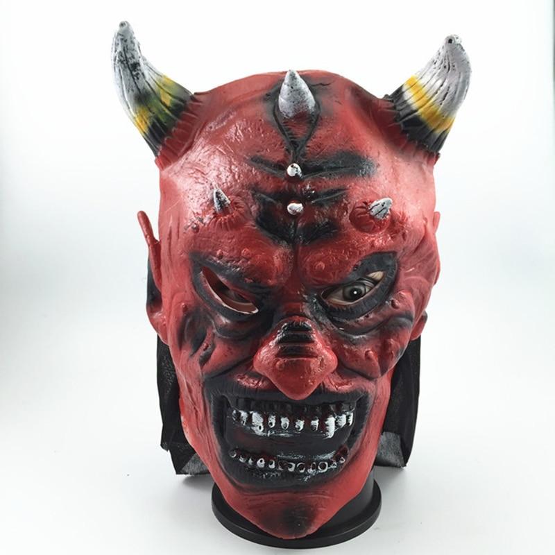 nueva mscara de halloween horror mscara del diablo cuernos de vaca rey scary mscaras cabeza