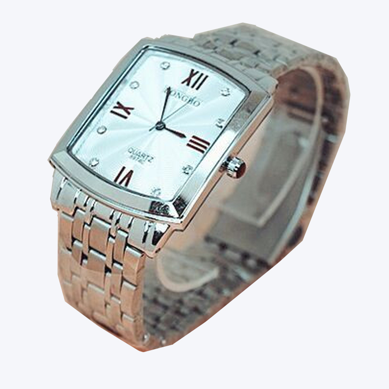 Fashion Longbo Top Brand Square Quartz Watch Full Stainless Steel Jp Movement Lovers Man Woman Lovers Business Gift Wristwatches