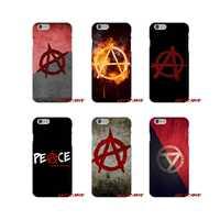Para iPhone X XR XS MAX 4 4S 5 5S 5C SE 6 6 S 7 8 Plus anarquía logotipo accesorios fundas de teléfono