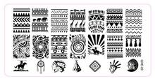 Hot Sale 1 Pcs Nail Stamping Plates Stamping Template Nail Art Polish Templates Indians&Horse Riding Design DIY Manicure QXE20