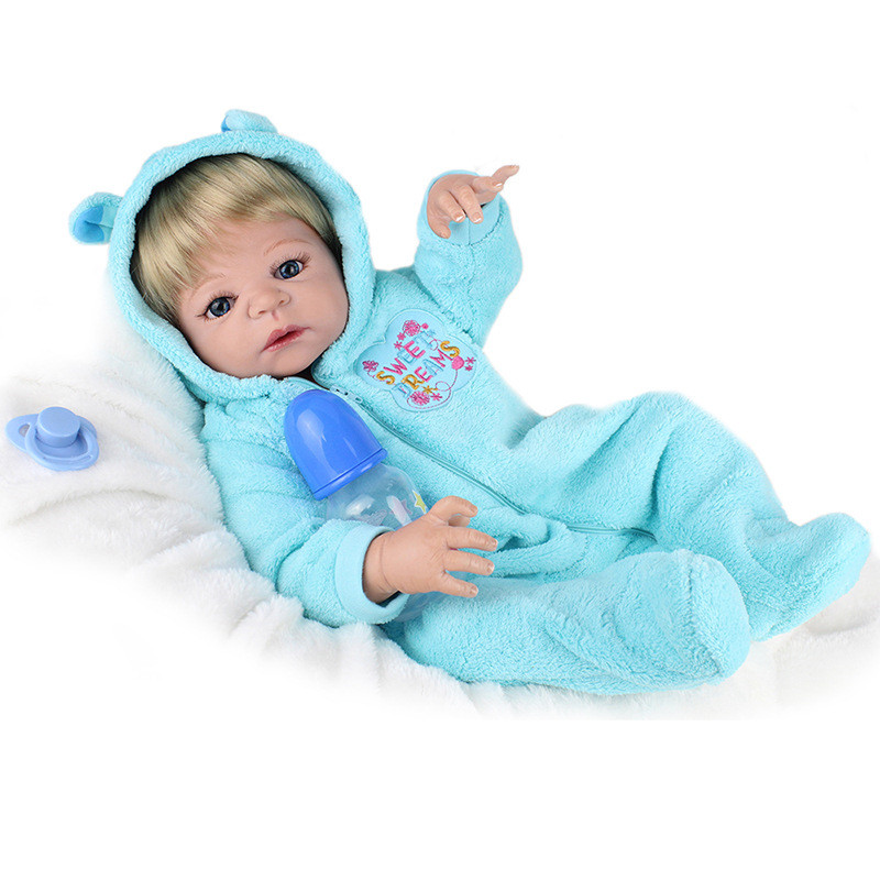 23'' Lifelike bebe Dolls Reborn Bonacas Full Silicone Vinyl Body Reborn Babies Doll Toy Alive Boy Baby Doll Kids NPK COLLECTION christmas gifts in europe and america early education full body silicone doll reborn babies brinquedo lifelike rb16 11h10