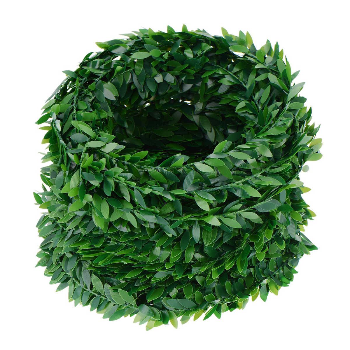 7.5m Guirlanda de Hera Artificial Folhas Folhagem Verde Simulado Vinha Para Festa de Casamento Cerimônia DIY Headbands