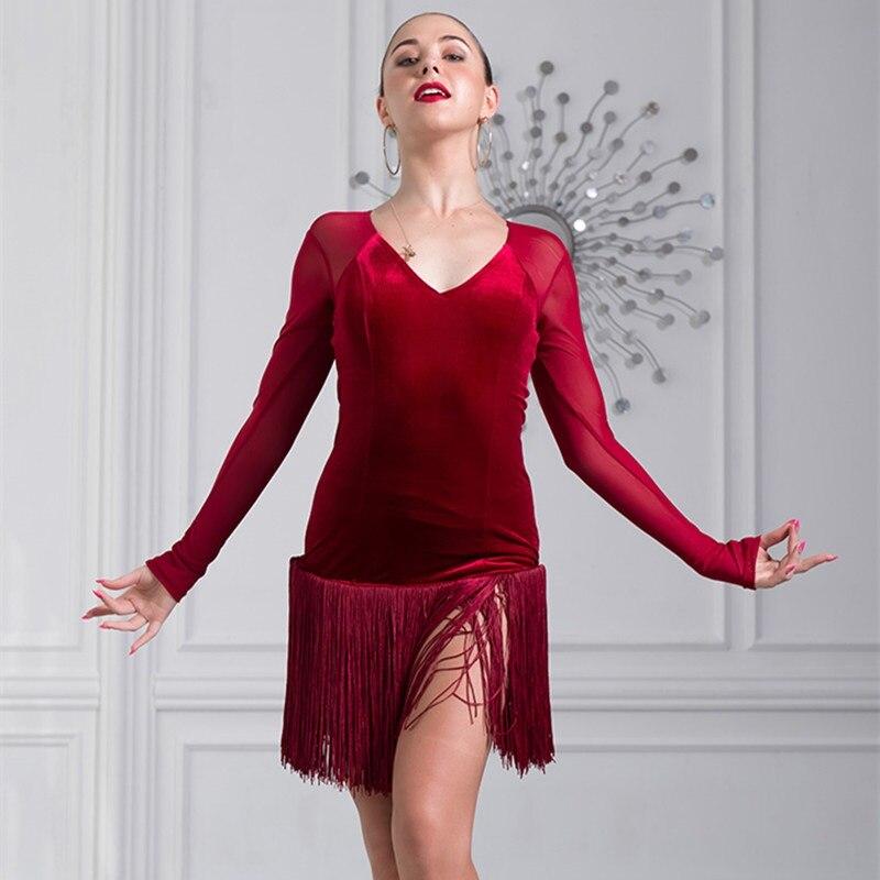 women latin dress latin dance costumes for women salsa dress latina dress for dance competition tango dress fringe dance wear