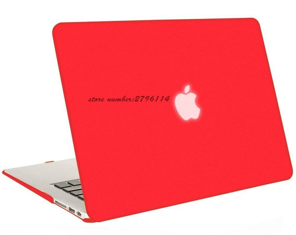 Hot Sale New Colour  Red Matter Case For Apple Macbook Air Pro Retina 11 12 13 15 Laptop Cover Bag For Mac Book 13.3 Inch
