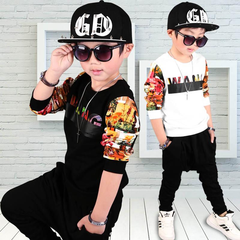 2017Boys Clothing Set 2017 New Fashion Sport Suit Sweatshirts & Harem Pants Kids Hip Hop Clothing Suit 2 3 4 5 6 7 8 9 10 years6