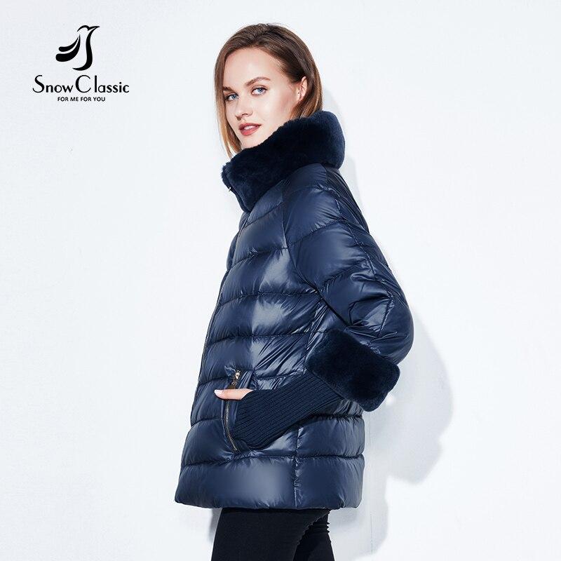 2020 Women's Coat Warm Winter Jacket Real Rabbit Fur Collar / Sleeve Removable Windbreaker Plus Fat Jacket SnowClassic 6