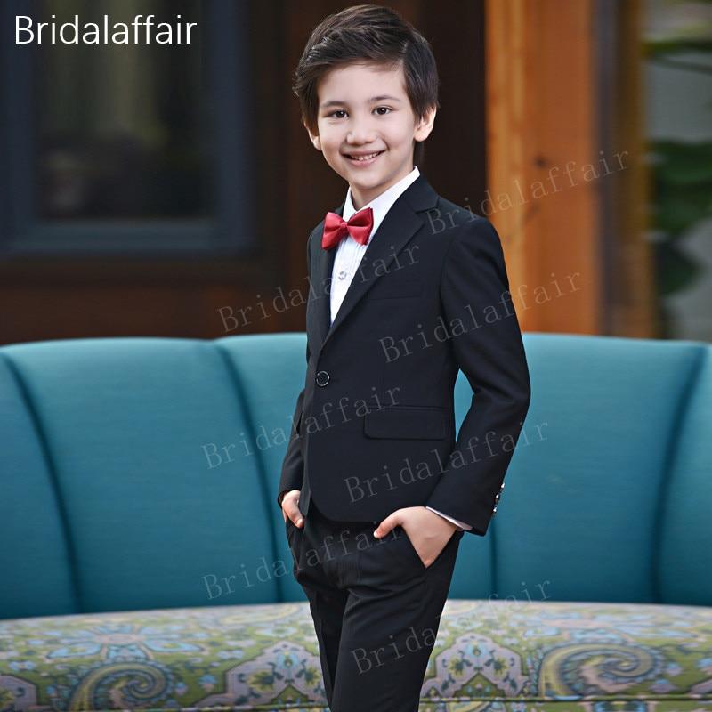Formal Italian Cut Boys Wedding Prom Suits Grey Black Navy Blue Page Boy Suits