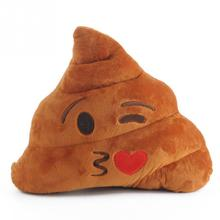 Cute Emoji Pillow Cushion Poop Shape Pillow Doll Toy Throw Pillow Amusing emotion Poo Cushion almofadas