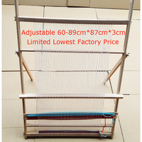 A,Hand made looms DIY lifting Tapestry Loom Large frame knitting machine with Smooth surface Beech wooden 89*87cm