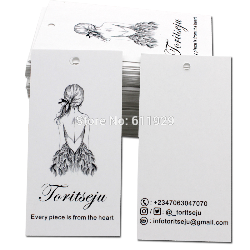 Free Shipping 500 Pcs A Lot Customized Paper Hang Tag/clothing Swing Tag Labels/dress Labels/garment Bag Printed Tags Brand