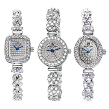 Женские часы с полностью хрустальной королевской короной, японские кварцевые часы, изысканные модные ювелирные часы, браслет, роскошный подарок для девушек