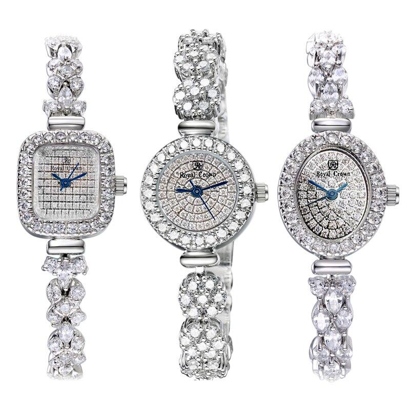 Cristal Royal couronne dame montre pour femme japon Quartz heures Fine mode bijoux horloge Bracelet de luxe fille cadeau