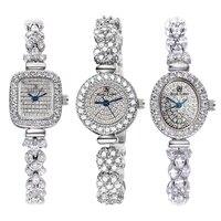 Full Crystal Royal Crown Lady Women's Watch Japan Quartz Hours Fine Fashion Jewelry Clock Bracelet Luxury Girl's Gift