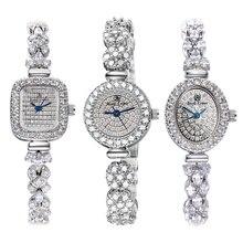 Reloj completo de cristal de corona real para mujer, reloj de cuarzo japonés, reloj de pulsera de joyería de moda fina, regalo de lujo para chica