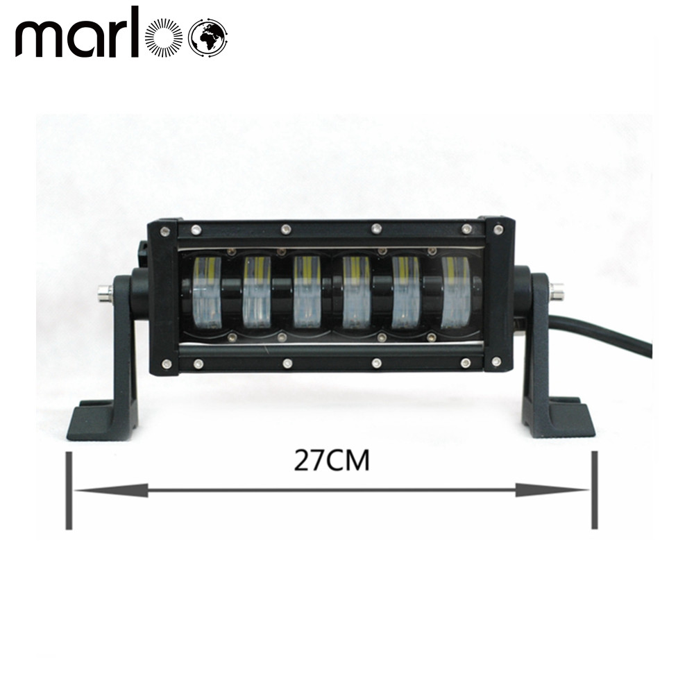 Marloo New 10.6 Inch 48W Single Row Led Light Bar Hi Lo Beam 12V 24V Offroad Driving Bar Light For Jeep, 4X4, Car, Boat, Camping