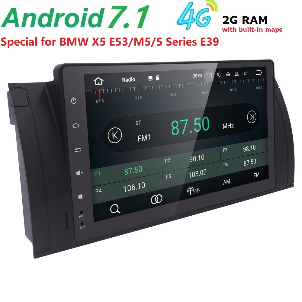 2 GRAM Android7.1 Voiture SANS Lecteur DVD pour BMW BMW E39 X5 M5 E53 Voiture Radio GPS stéréo headunit magnétophone soutien 4G WIFI DTV DAB