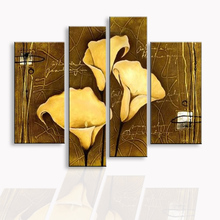 oil painting Abstract hand painted flower living room bedroom restaurant use Decorative poster DY-090