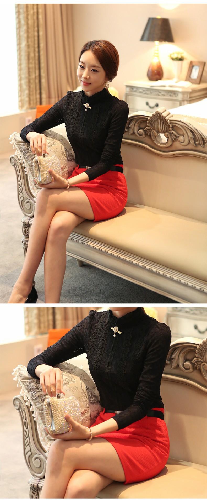 HTB1WpzEGVXXXXXyXVXXq6xXFXXXh - New Lace Shirt Women Clothing Blusas Femininas Blouses
