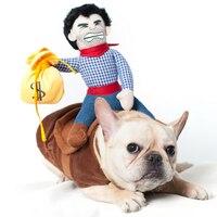 حار بيع ركوب الخيل الكلب زي عيد الجدة مضحك هالوين حزب ملابس كاوبوي الكلب كلب كبير الملابس S-XL