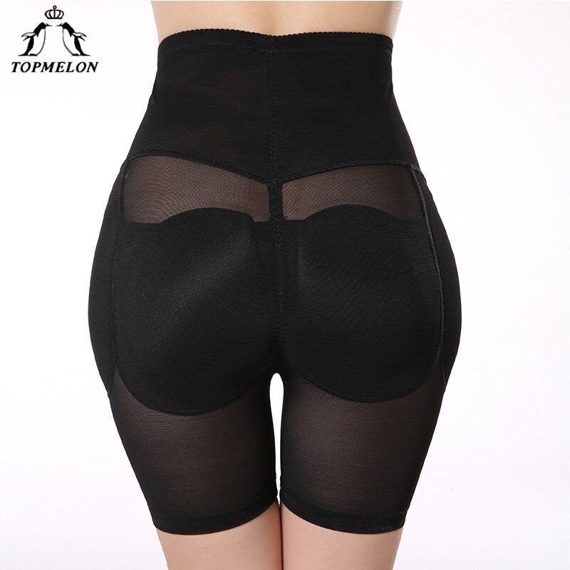 TOPMELON Shapwear Haute Taille Formateur Jambe Corps Shaper Butt Lifter Sous-Vêtements Femmes Rembourré Culottes Hanche Booty Enhancer Contrôle Pantalon