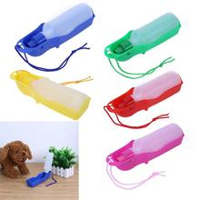 250ml Sport Pet Dog Water Bottle Outdoors Portable Tool Drinking Fountain Plastic Travel Dogs Bottles