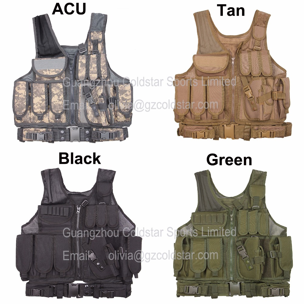 MOLLE Outdoor Camouflage Hunting Vest Tactical Military Army Combat Airsoft Wargame Armor Protective Clothes With Pouches