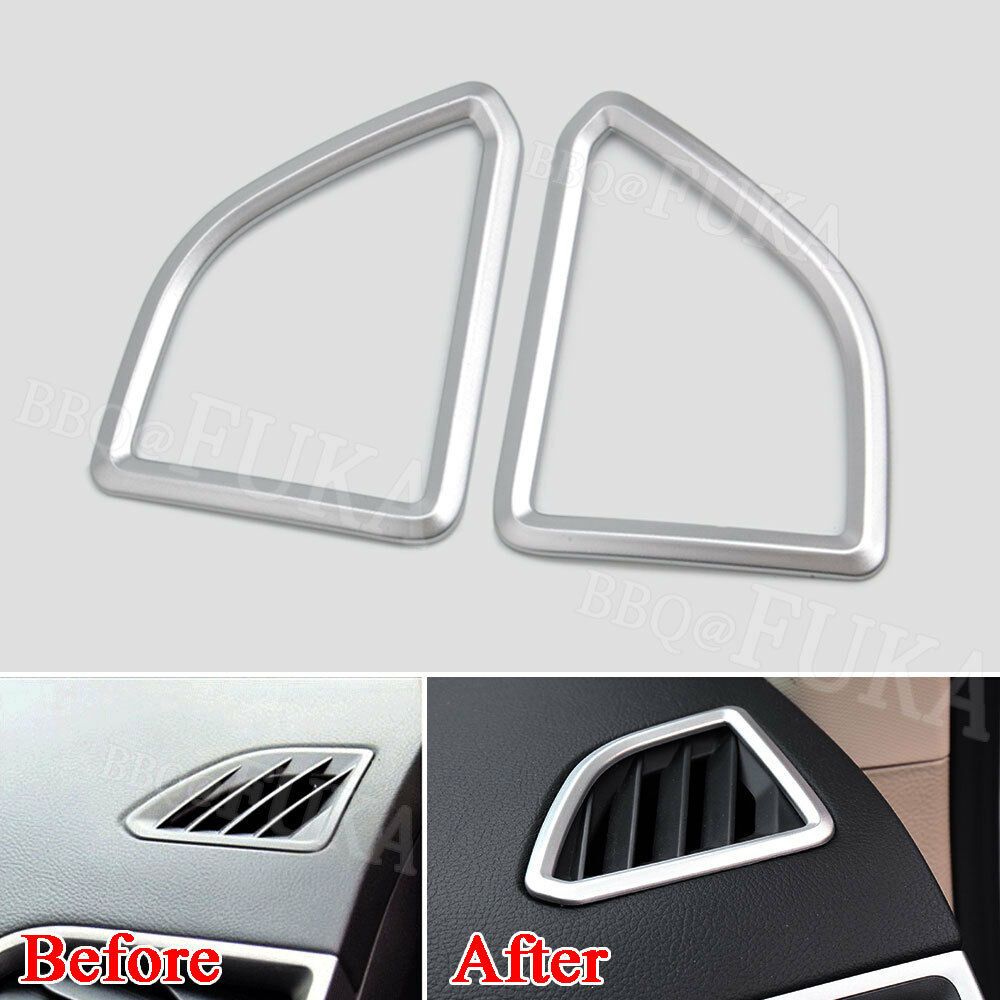 For Ford Mustang 2015 2016 2017 Chrome Silver ABS Car Door Vent Cover Decor Decal Frame Sticker Trim