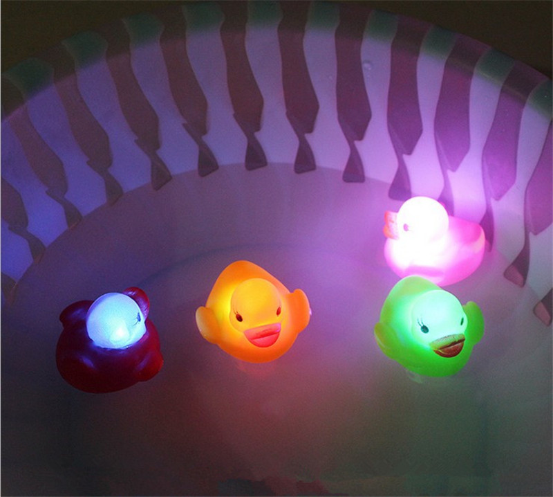 Goldfish Glowing Floating Water Toy Baby Bath Shower Toys Glowing Sensor Induction Floating Water Bathroom Bathtub Toys Latest Technology Classic Toys