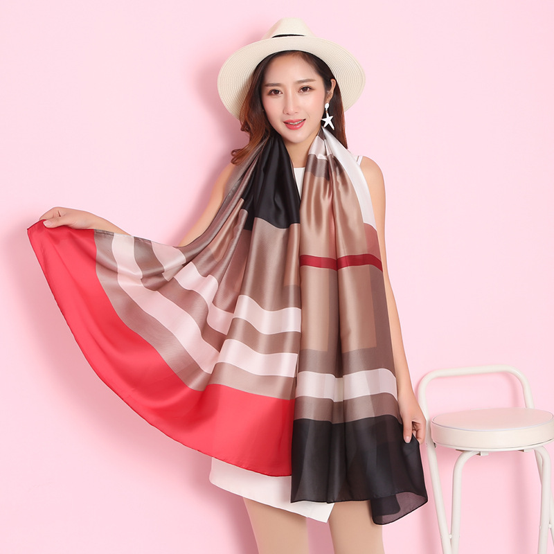 2019 luxury brand scarf women shawls and wraps summer print soft long size silk scarves lady pashmina bandana foulard
