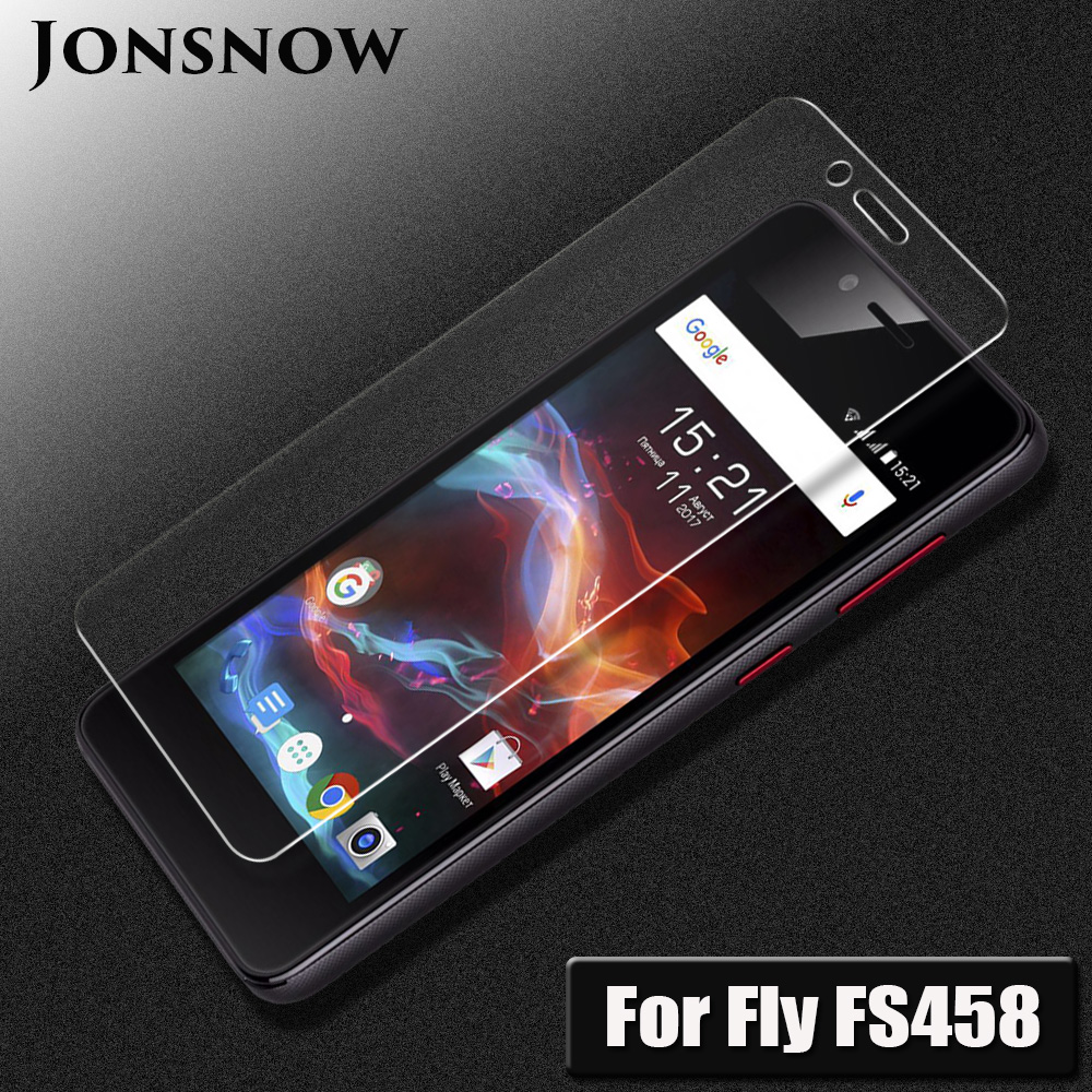JONSNOW For Fly FS458 Tempered Glass 2.5D 9H Explosion-proof LCD Screen Protector For Fly FS458 Stratus 7 Protective Film