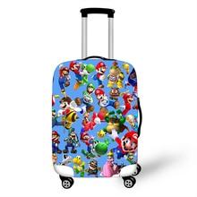 18-32 дюймов чемодан защитные чехлы мультфильм Марио Bros эластичный Чехол для багажа накидка сумки для путешествий стрейч аксессуары для путешествий