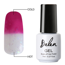 Belen 7 мл температурный меняющий гель лак для ногтей 100 цвет отмачиваемый Полупостоянный лаковый лак-основа Топ Прайм термо
