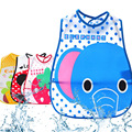 Solid Bibs Infant Baby EVA Eat Pocket Baberos Cartoon Animal Print Waterproof Child Overclothes Dribble Bibs