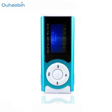 2017 HOT New Shiny Mini USB Clip Mp3 Player LCD Screen MP3 Media Player Support 16GB Micro SD Sport mp3 Music Players Oct12(China)