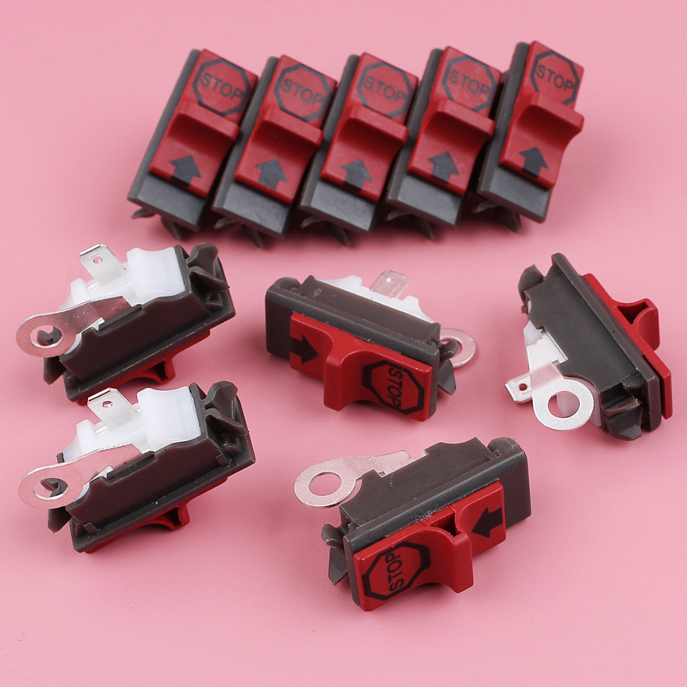 10pcs/lot On Off Stop Switch For Husqvarna 266 242 254 268 281 288 136 137 141 142 42 50 51 55 36 Chainsaw Spare Replace Part