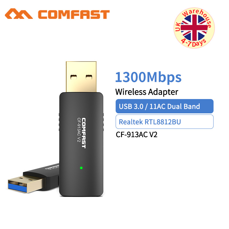COMFAST Usb3.0 Wifi Adapter 1200Mbps Dual Band Wi-fi Dongle 2.4Ghz + 5.8Ghz Computer AC Network Card Antenna 802.11ac/b/g/n/AC