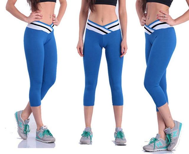 327ff67157c07 New arrival design waist colours women yoga pant sport leggings fitness  running capri pants trousers free